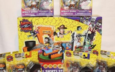litlholiday Gift Guide 2020 Magic Box: World of Zombies Deluxe Sports Stadium Playset and Figures by Bandai