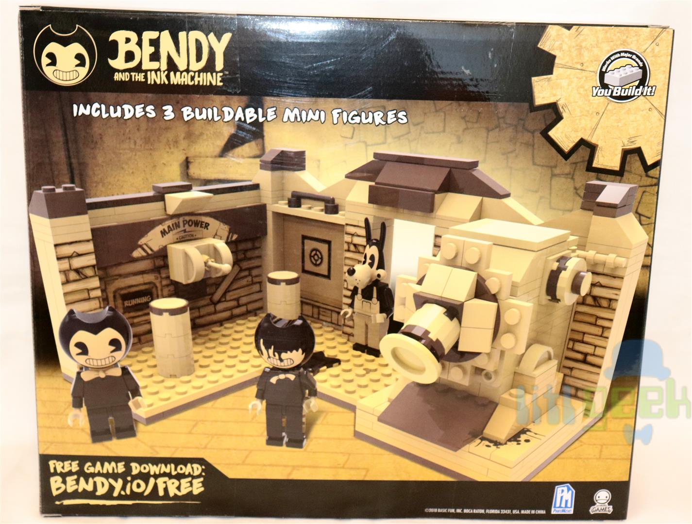 Bendy and the Ink Machine Ink Machine Room Buildable Scene Set
